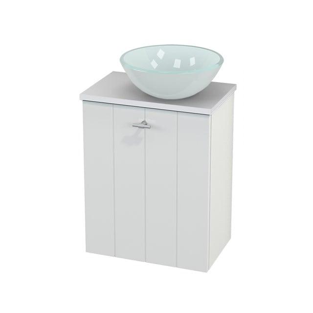 Toiletmeubel met Waskom Glas Modulo+ Pico Hoogglans Wit 41cm BMC000464