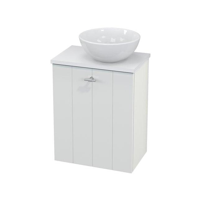 Toiletmeubel met Waskom Keramiek Modulo+ Pico Hoogglans Wit 41cm BMC000465