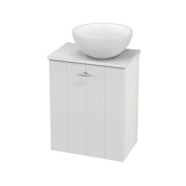 Toiletmeubel met Waskom Solid Surface Mat Modulo+ Pico Hoogglans Wit 41cm BMC000467