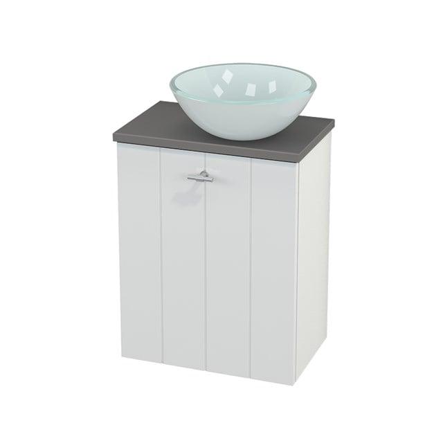 Toiletmeubel met Waskom Glas Modulo+ Pico Hoogglans Wit 41cm BMC000471