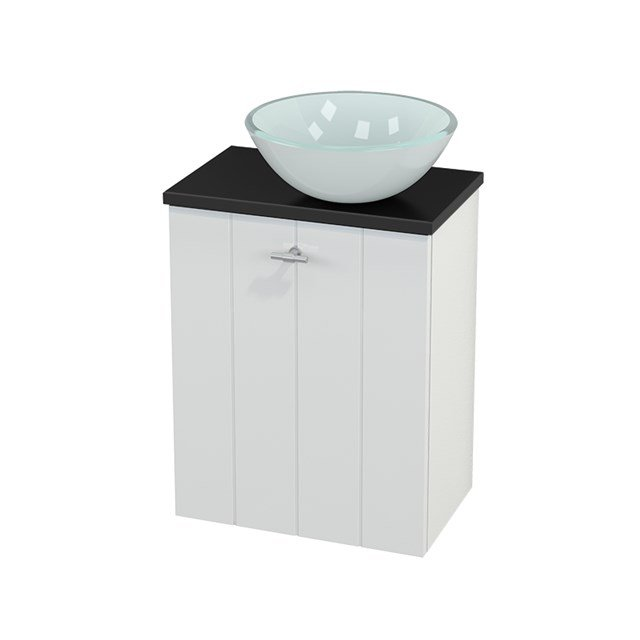 Toiletmeubel met Waskom Glas Modulo+ Pico Hoogglans Wit 41cm BMC000478