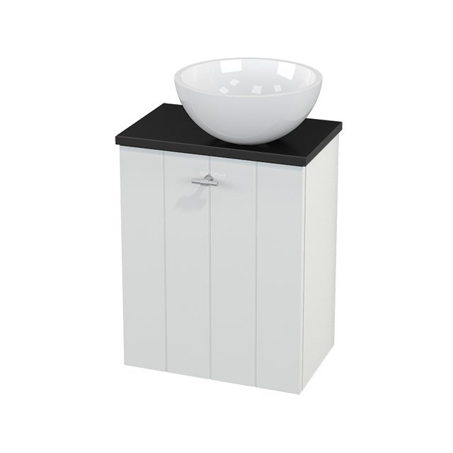 Toiletmeubel met Waskom Mineraalmarmer Glanzend Modulo+ Pico Hoogglans Wit 41cm BMC000480