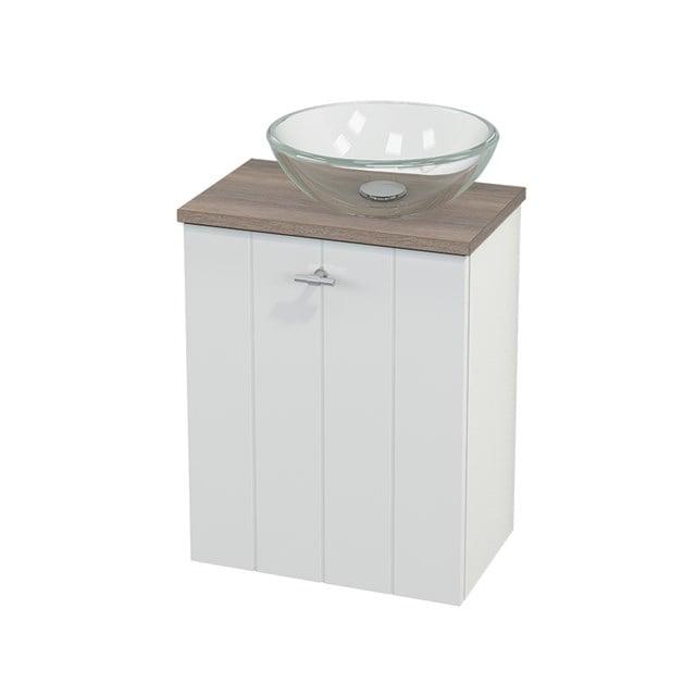 Toiletmeubel met Waskom Glas Modulo+ Pico Hoogglans Wit 41cm BMC000484