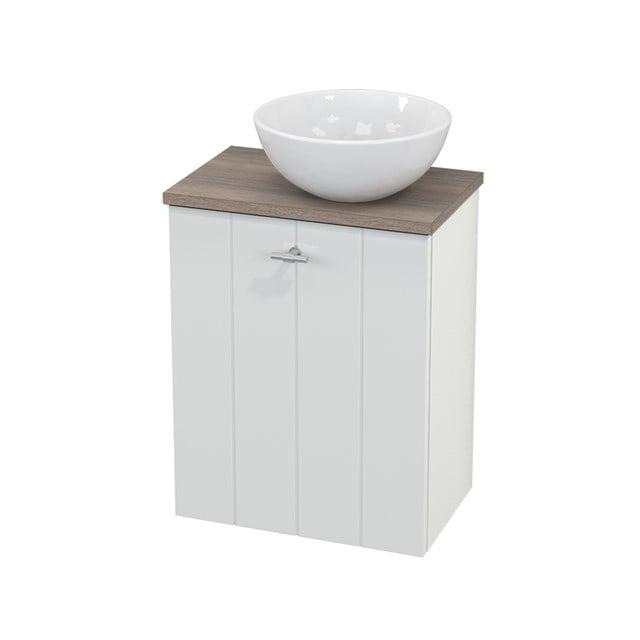 Toiletmeubel met Waskom Keramiek Modulo+ Pico Hoogglans Wit 41cm BMC000486