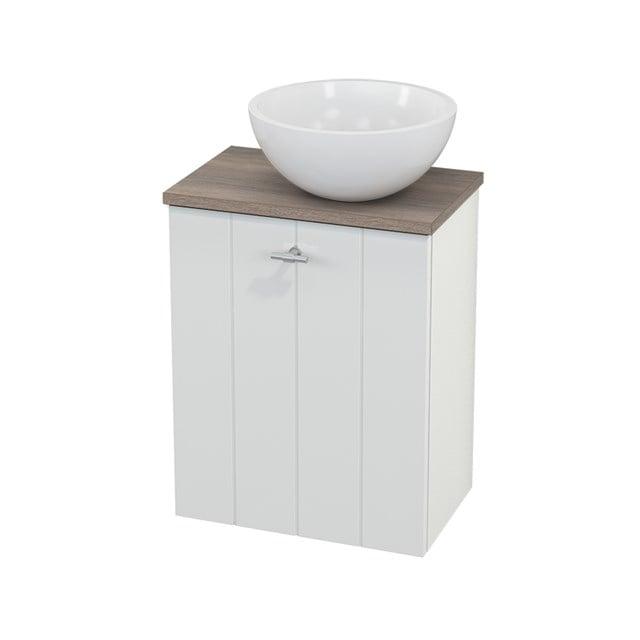 Toiletmeubel met Waskom Mineraalmarmer Glanzend Modulo+ Pico Hoogglans Wit 41cm BMC000487