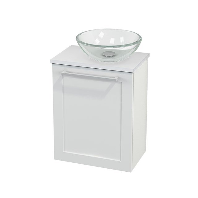 Toiletmeubel met Waskom Glas Modulo+ Pico Hoogglans Wit 41cm BMC000491