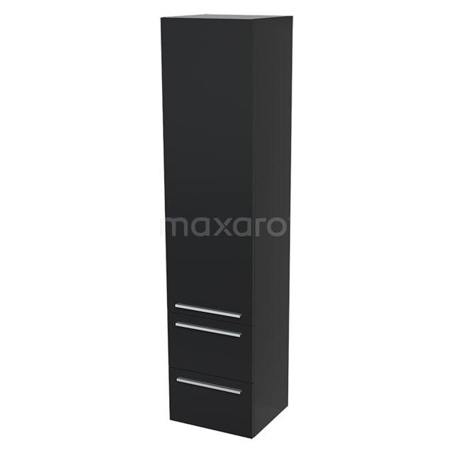 Badkamerkast Lungo 170x40cm Mat zwart 1 Deur Vlak BKK10-00001