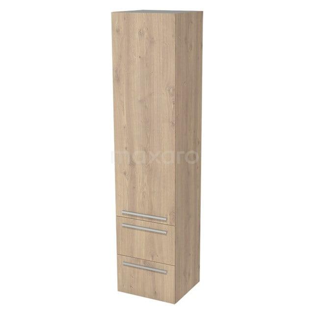 Badkamerkast Lungo 170x40cm Lichtbruin eiken 1 Deur Vlak BKK10-00010