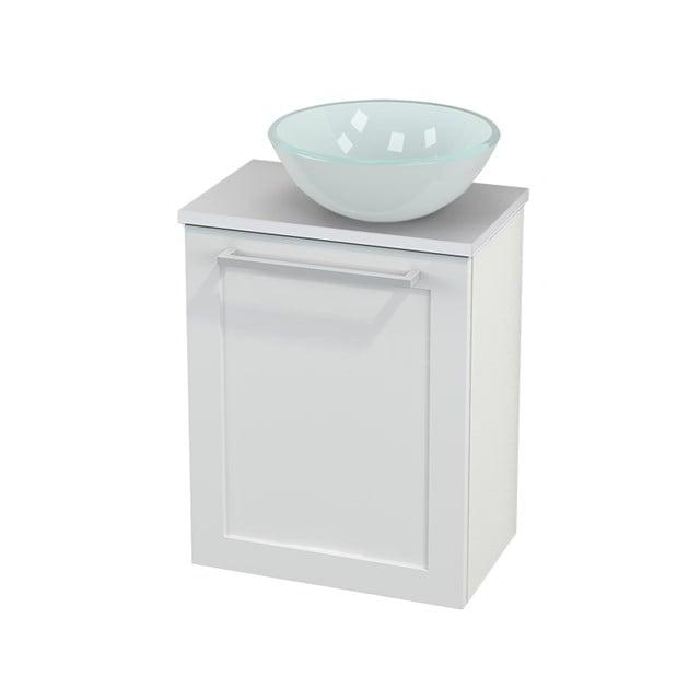 Toiletmeubel met Waskom Glas Modulo+ Pico Hoogglans Wit 41cm BMC000492