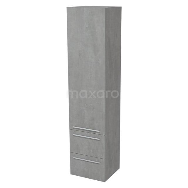 Badkamerkast Lungo 170x40cm Lichtgrijs beton 1 Deur Vlak BKK10-00016
