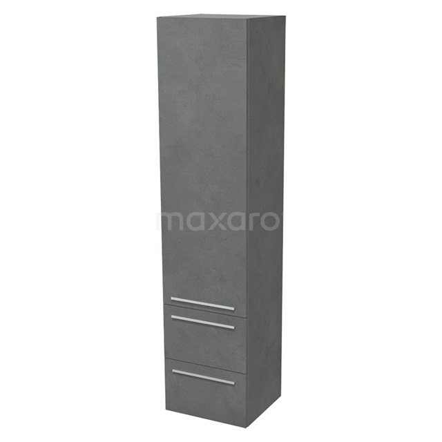 Badkamerkast Lungo 170x40cm Donkergrijs beton 1 Deur Vlak BKK10-00031