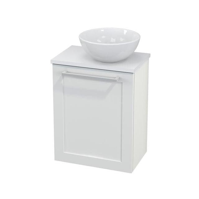 Toiletmeubel met Waskom Keramiek Modulo+ Pico Hoogglans Wit 41cm BMC000493