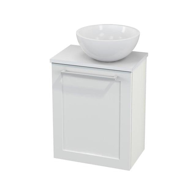 Toiletmeubel met Waskom Mineraalmarmer Glanzend Modulo+ Pico Hoogglans Wit 41cm BMC000494
