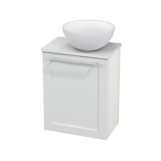 Toiletmeubel met Waskom Solid Surface Mat Modulo+ Pico Hoogglans Wit 41cm BMC000495