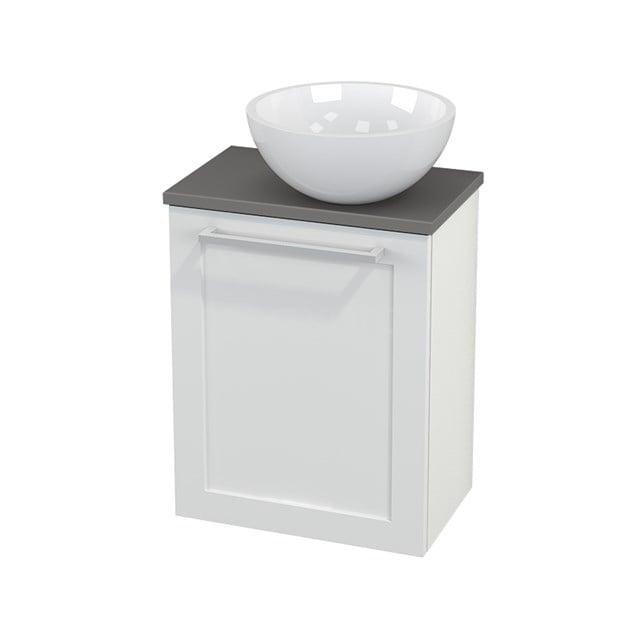 Toiletmeubel met Waskom Mineraalmarmer Glanzend Modulo+ Pico Hoogglans Wit 41cm BMC000501