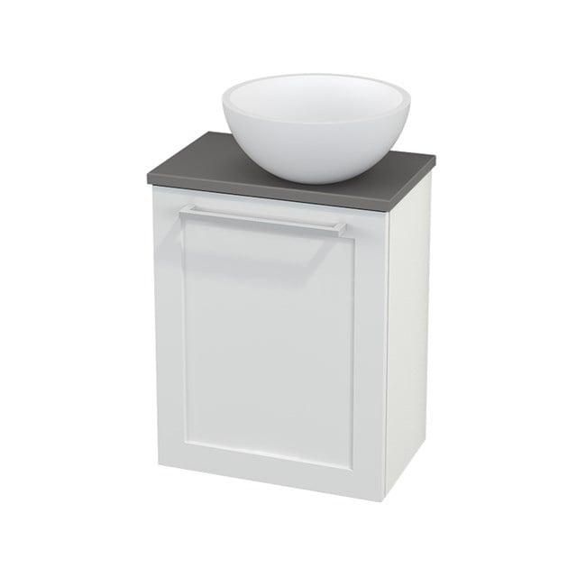 Toiletmeubel met Waskom Solid Surface Mat Modulo+ Pico Hoogglans Wit 41cm BMC000502