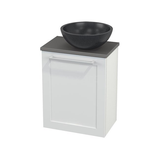 Toiletmeubel met Waskom Natuursteen Modulo+ Pico Hoogglans Wit 41cm BMC000503