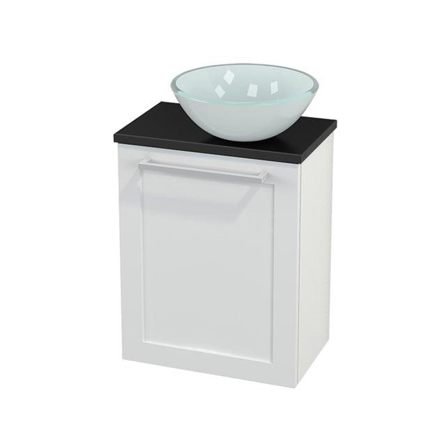 Toiletmeubel met Waskom Glas Modulo+ Pico Hoogglans Wit 41cm BMC000506