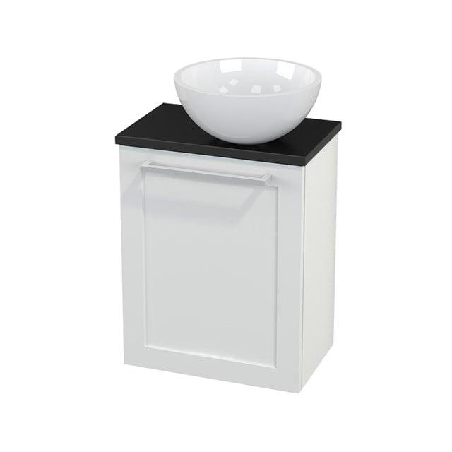 Toiletmeubel met Waskom Mineraalmarmer Glanzend Modulo+ Pico Hoogglans Wit 41cm BMC000508