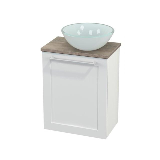 Toiletmeubel met Waskom Glas Modulo+ Pico Hoogglans Wit 41cm BMC000513