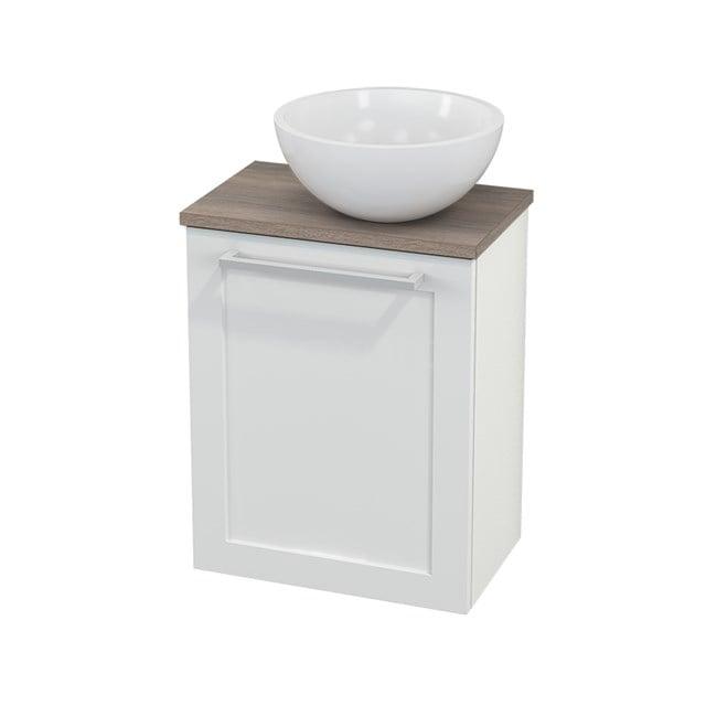 Toiletmeubel met Waskom Mineraalmarmer Glanzend Modulo+ Pico Hoogglans Wit 41cm BMC000515