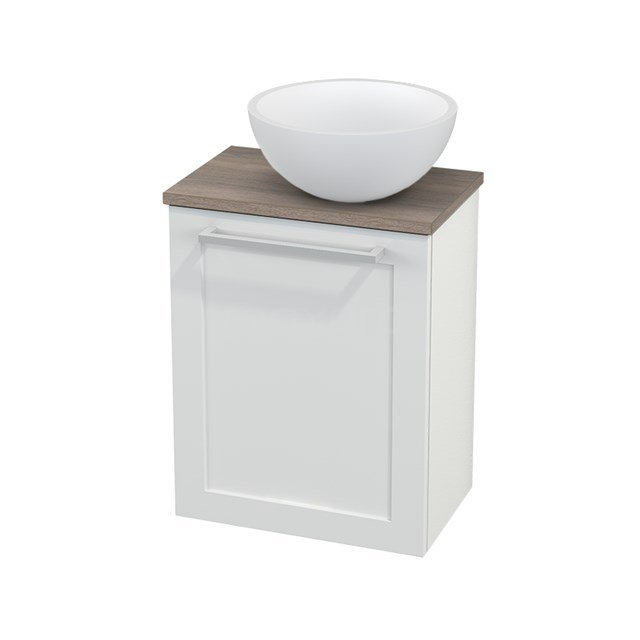 Toiletmeubel met Waskom Solid Surface Mat Modulo+ Pico Hoogglans Wit 41cm BMC000516