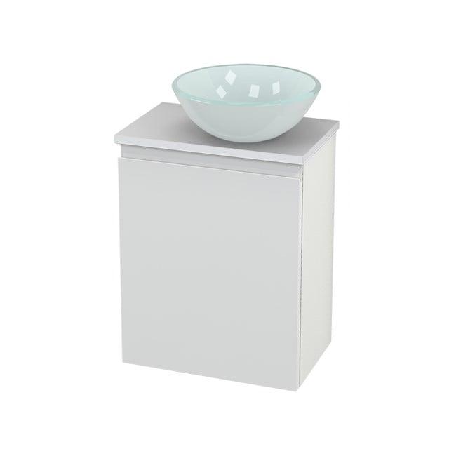 Toiletmeubel met Waskom Glas Modulo+ Pico Hoogglans Wit 41cm BMC000520