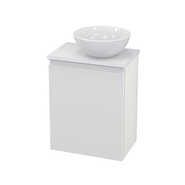 Toiletmeubel met Waskom Keramiek Modulo+ Pico Hoogglans Wit 41cm BMC000521