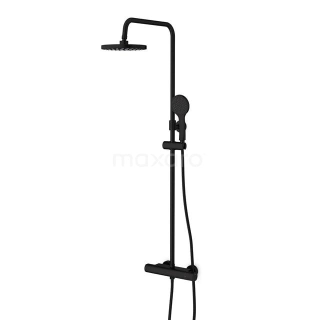 Regendoucheset Easy Black, Thermostaatkraan, 20cm Hoofddouche, Zwart DSC-0404-20000