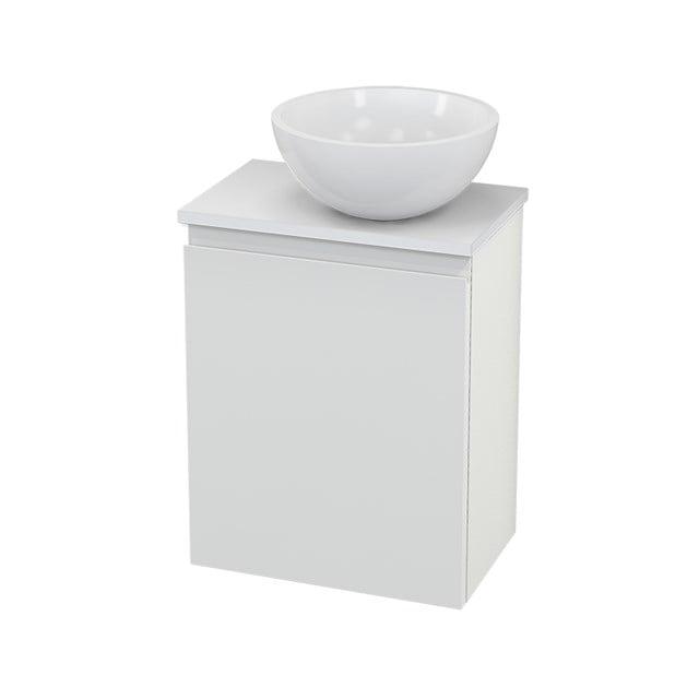 Toiletmeubel met Waskom Mineraalmarmer Glanzend Modulo+ Pico Hoogglans Wit 41cm BMC000522
