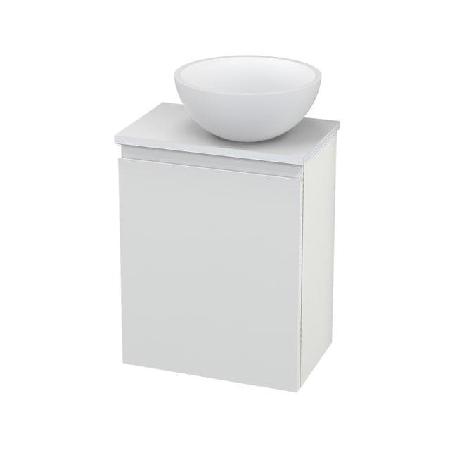 Toiletmeubel met Waskom Solid Surface Mat Modulo+ Pico Hoogglans Wit 41cm BMC000523
