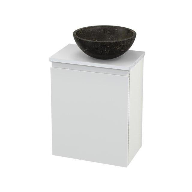 Toiletmeubel met Waskom Natuursteen Modulo+ Pico Hoogglans Wit 41cm BMC000524