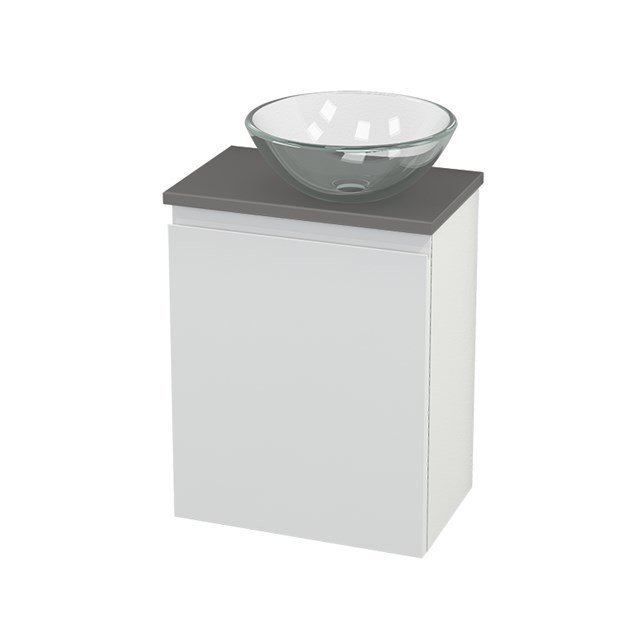 Toiletmeubel met Waskom Glas Modulo+ Pico Hoogglans Wit 41cm BMC000526