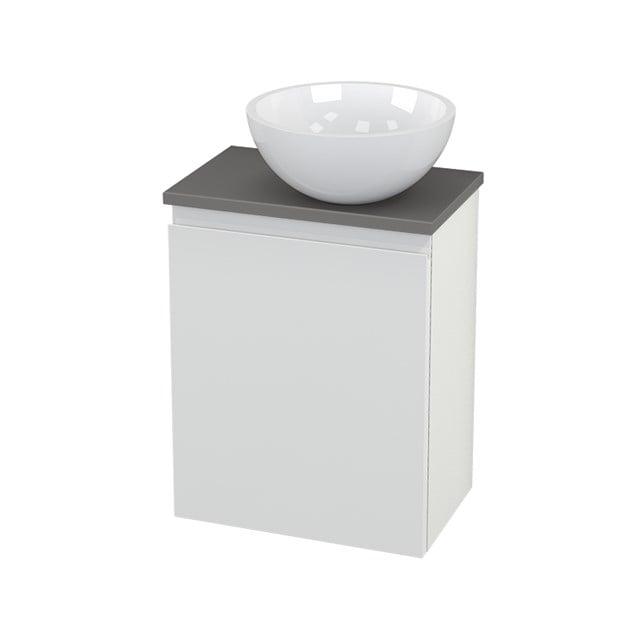 Toiletmeubel met Waskom Mineraalmarmer Glanzend Modulo+ Pico Hoogglans Wit 41cm BMC000529