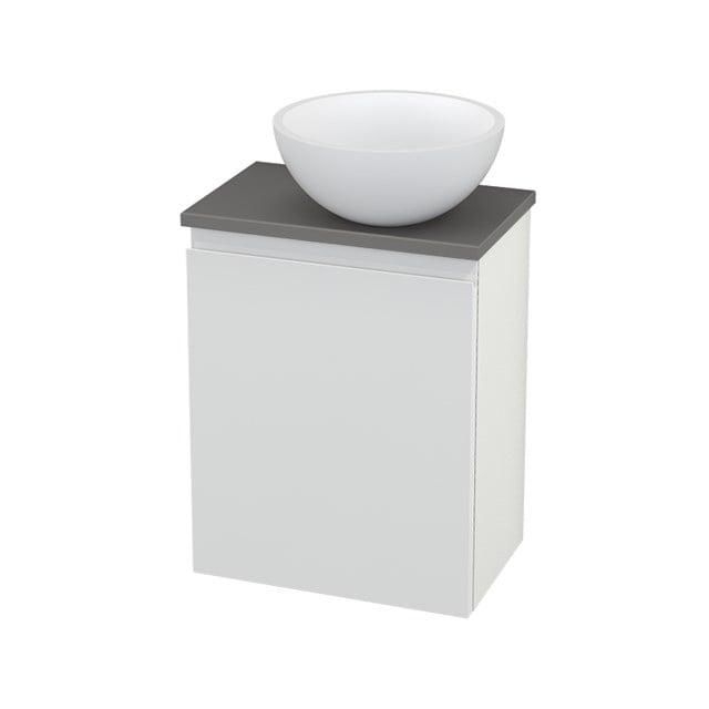 Toiletmeubel met Waskom Solid Surface Mat Modulo+ Pico Hoogglans Wit 41cm BMC000530