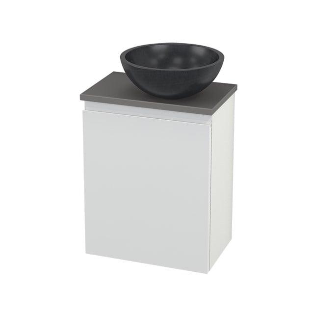 Toiletmeubel met Waskom Natuursteen Modulo+ Pico Hoogglans Wit 41cm BMC000531