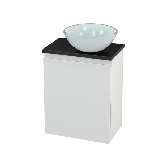 Toiletmeubel met Waskom Glas Modulo+ Pico Hoogglans Wit 41cm BMC000534