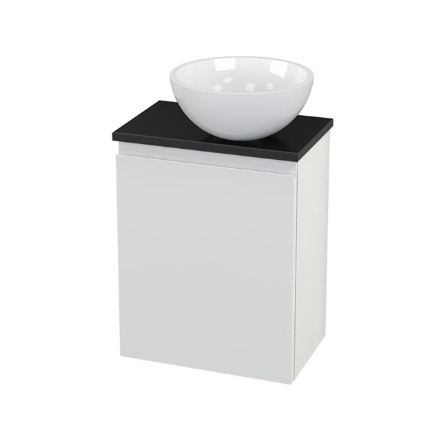 Toiletmeubel met Waskom Mineraalmarmer Glanzend Modulo+ Pico Hoogglans Wit 41cm BMC000536