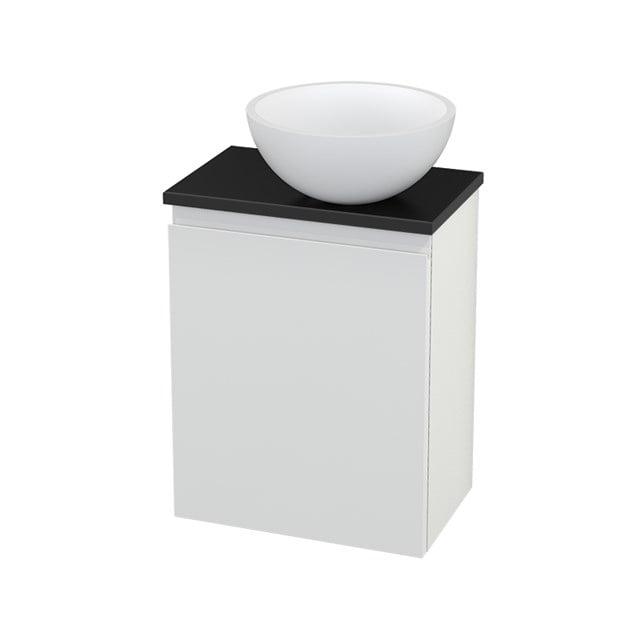 Toiletmeubel met Waskom Solid Surface Mat Modulo+ Pico Hoogglans Wit 41cm BMC000537