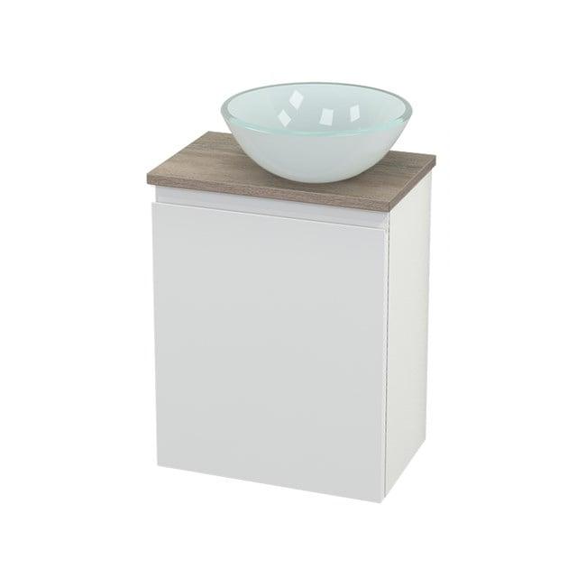 Toiletmeubel met Waskom Glas Modulo+ Pico Hoogglans Wit 41cm BMC000541