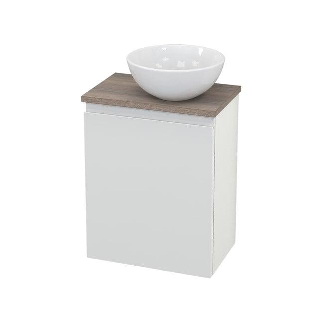 Toiletmeubel met Waskom Keramiek Modulo+ Pico Hoogglans Wit 41cm BMC000542