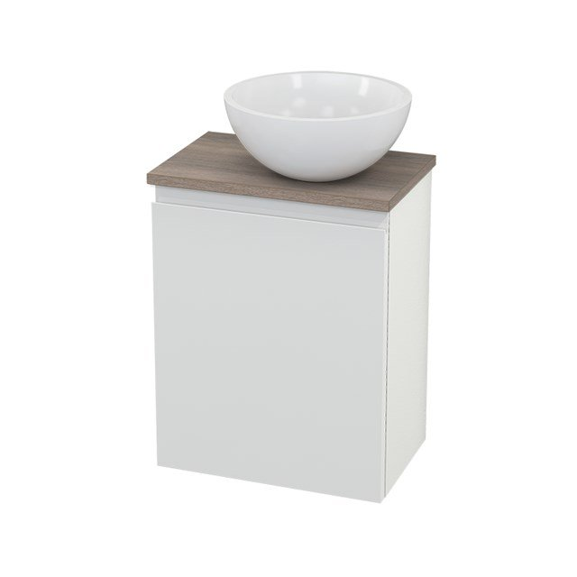 Toiletmeubel met Waskom Mineraalmarmer Glanzend Modulo+ Pico Hoogglans Wit 41cm BMC000543