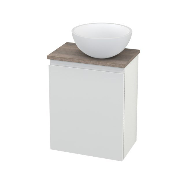 Toiletmeubel met Waskom Solid Surface Mat Modulo+ Pico Hoogglans Wit 41cm BMC000544