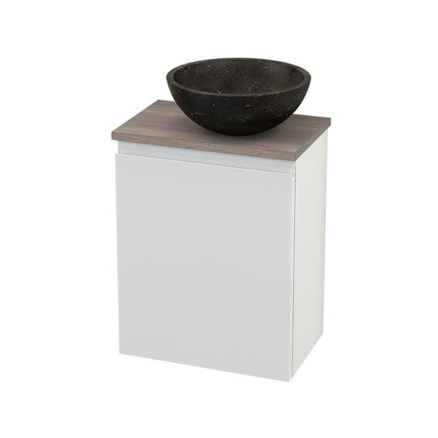 Toiletmeubel met Waskom Natuursteen Modulo+ Pico Hoogglans Wit 41cm BMC000545