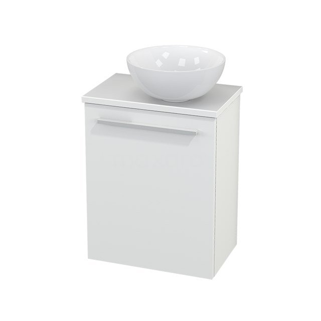 Toiletmeubel met Waskom Keramiek Modulo+ Pico Mat Wit 41cm BMC000549