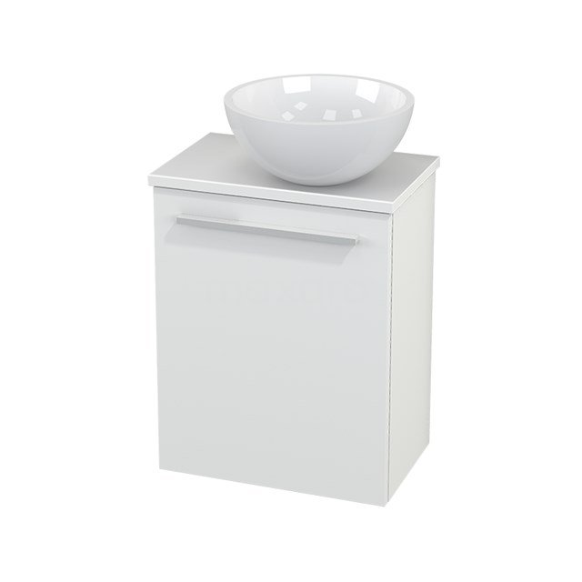 Toiletmeubel met Waskom Mineraalmarmer Glanzend Modulo+ Pico Mat Wit 41cm BMC000550