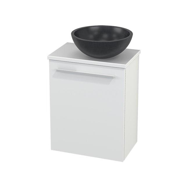 Toiletmeubel met Waskom Natuursteen Modulo+ Pico Mat Wit 41cm BMC000552