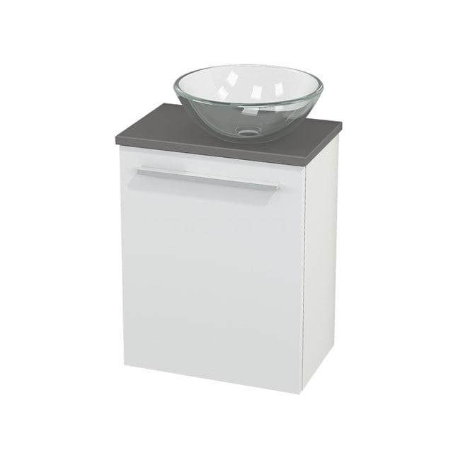 Toiletmeubel met Waskom Glas Modulo+ Pico Mat Wit 41cm BMC000554