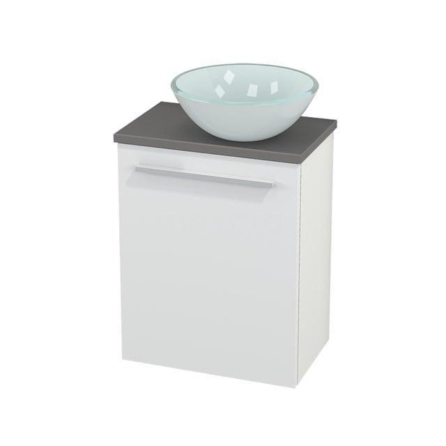 Toiletmeubel met Waskom Glas Modulo+ Pico Mat Wit 41cm BMC000555