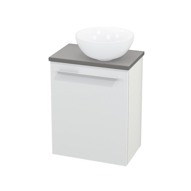 Toiletmeubel met Waskom Keramiek Modulo+ Pico Mat Wit 41cm BMC000556